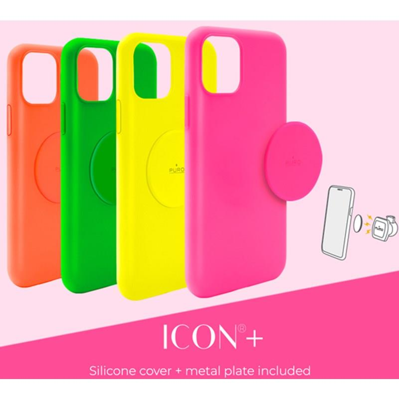PURO ICON Cover - Magnetic case for iPhone SE 2020/8/7 / 6s / 6 (yellow)