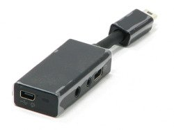 Adapter AUDIO HTC Mini USB Jack 3,5mm YC A300 3in1