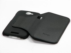 Original Pouch Case HTC One S V741 Black Hard Shell with Cover