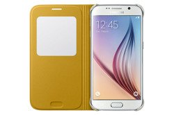 S-VIEW COVER Samsung Galaxy S6 GENUINE GRAPEFRUIT YELLOW