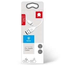 Baseus Small Pretty Waist cable USB to Lightning, 2A, 1,2 m - White